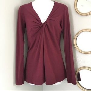 Theory Twist Front Long Sleeve Top